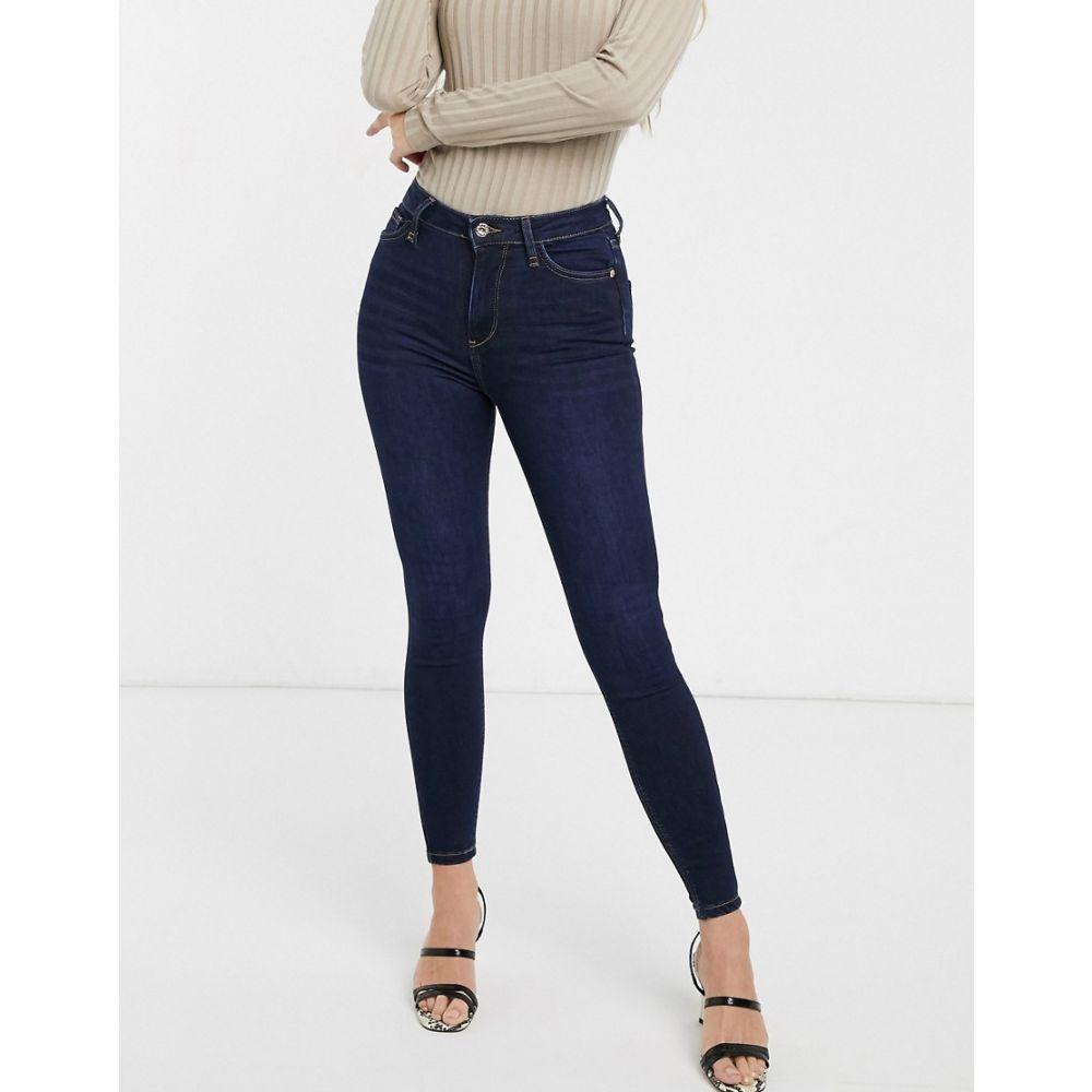 リバーアイランド River Island レディース ジーンズ・デニム ボトムス・パンツ【Hailey skinny jeans in dark wash blue】Dark auth