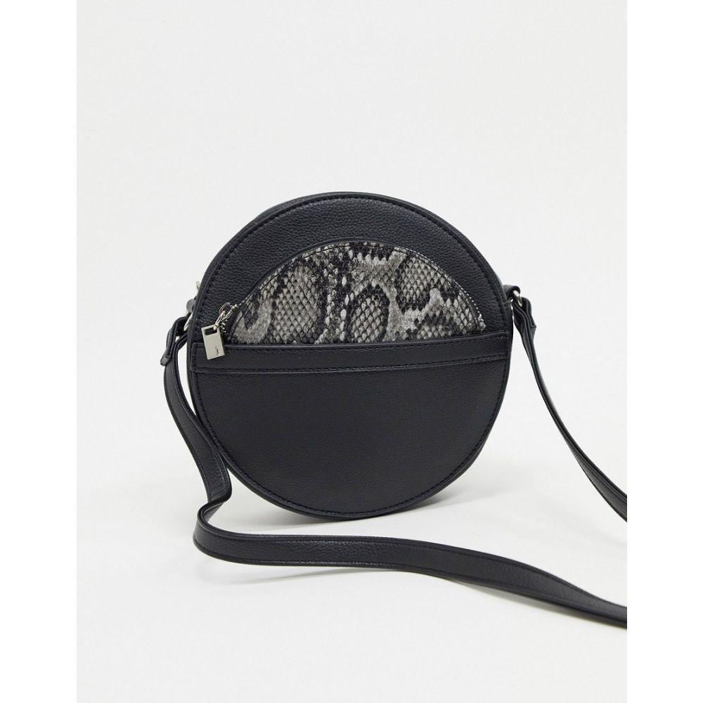 フレンチコネクション French Connection レディース ショルダーバッグ バッグ【circular shoulder bag with removable snake purse】Black/snake