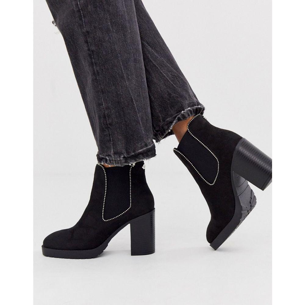 ミス ケージー Miss KG レディース ブーツ シューズ・靴【chain detail heeled boot in black】Black