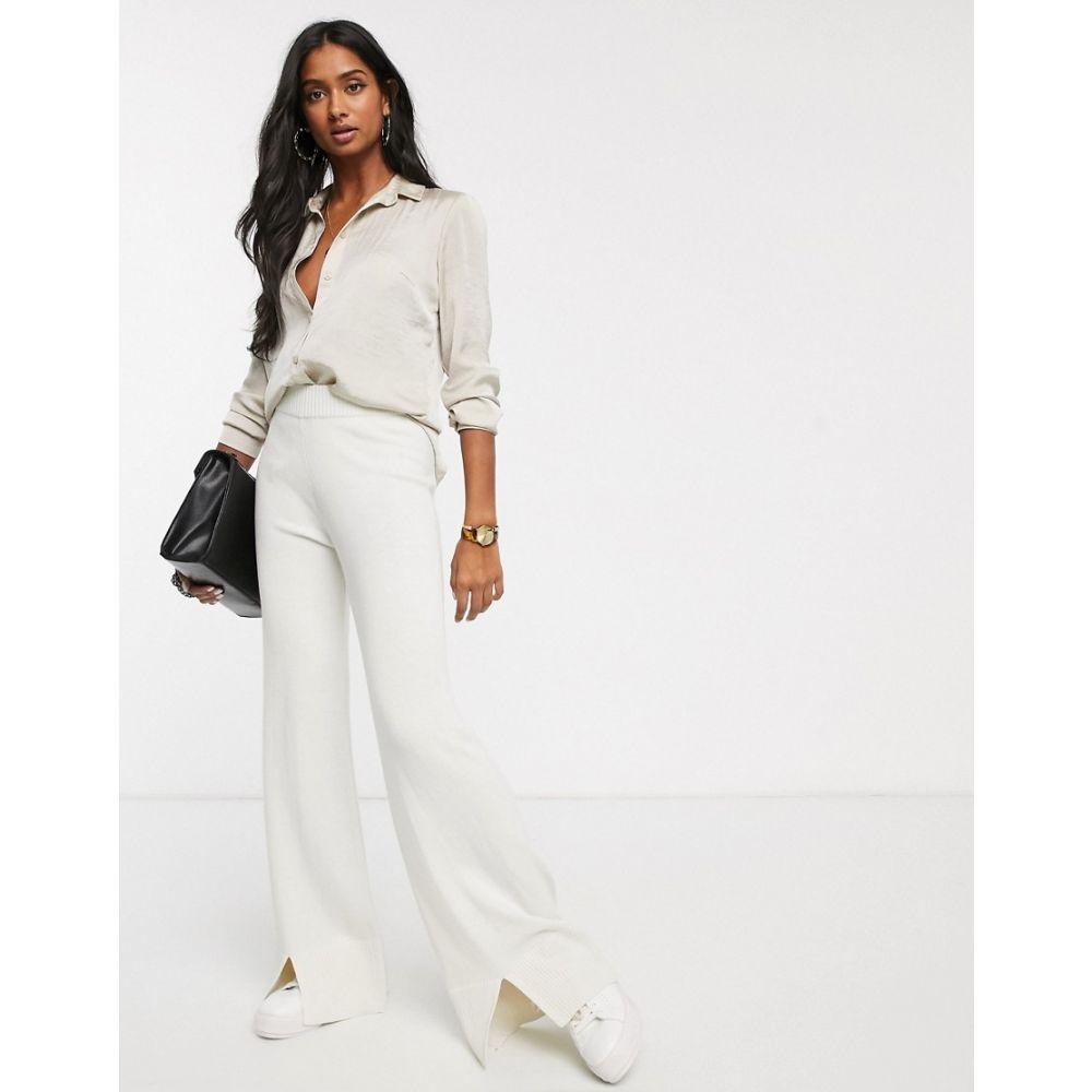 ミーヒャラウンジ Micha Lounge レディース ボトムス・パンツ 【Luxe step hem trouser coord in wool blend】Cream