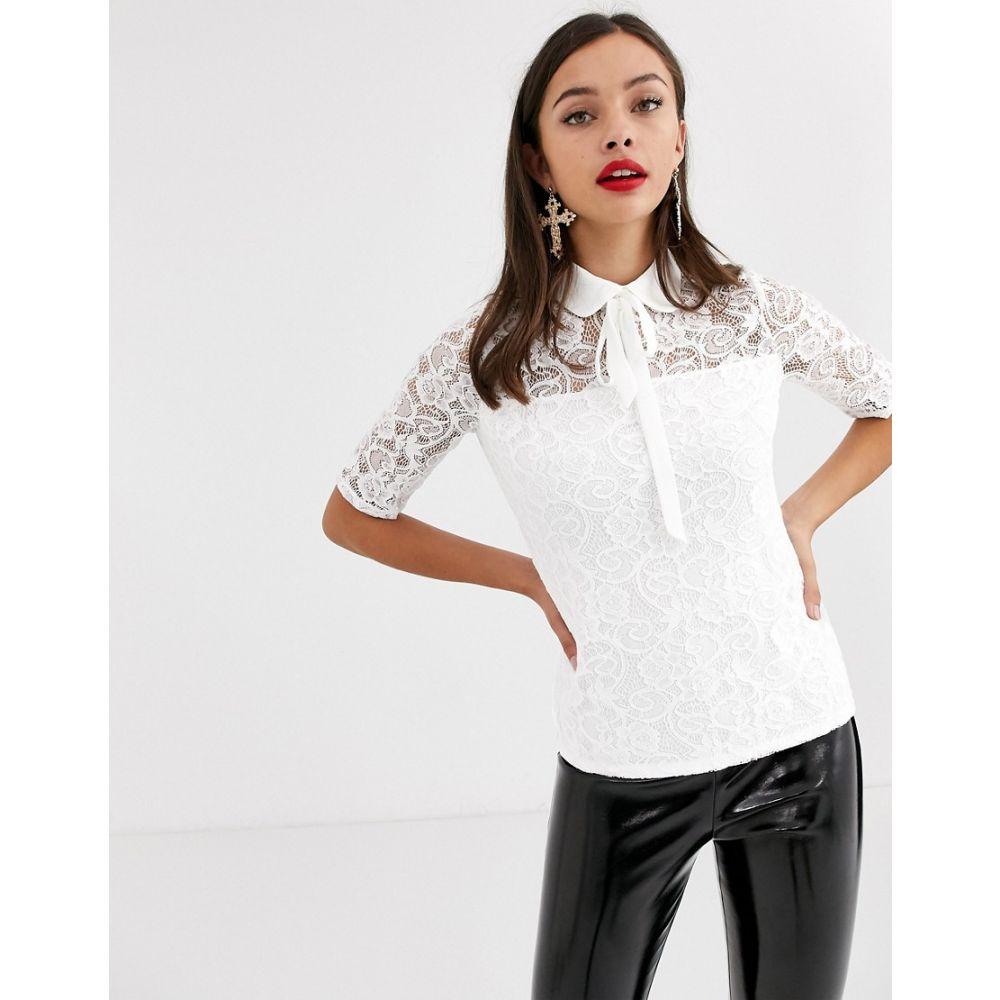 モーガン レーン Morgan レディース ブラウス・シャツ トップス【all over lace blouse in ivory】Off white