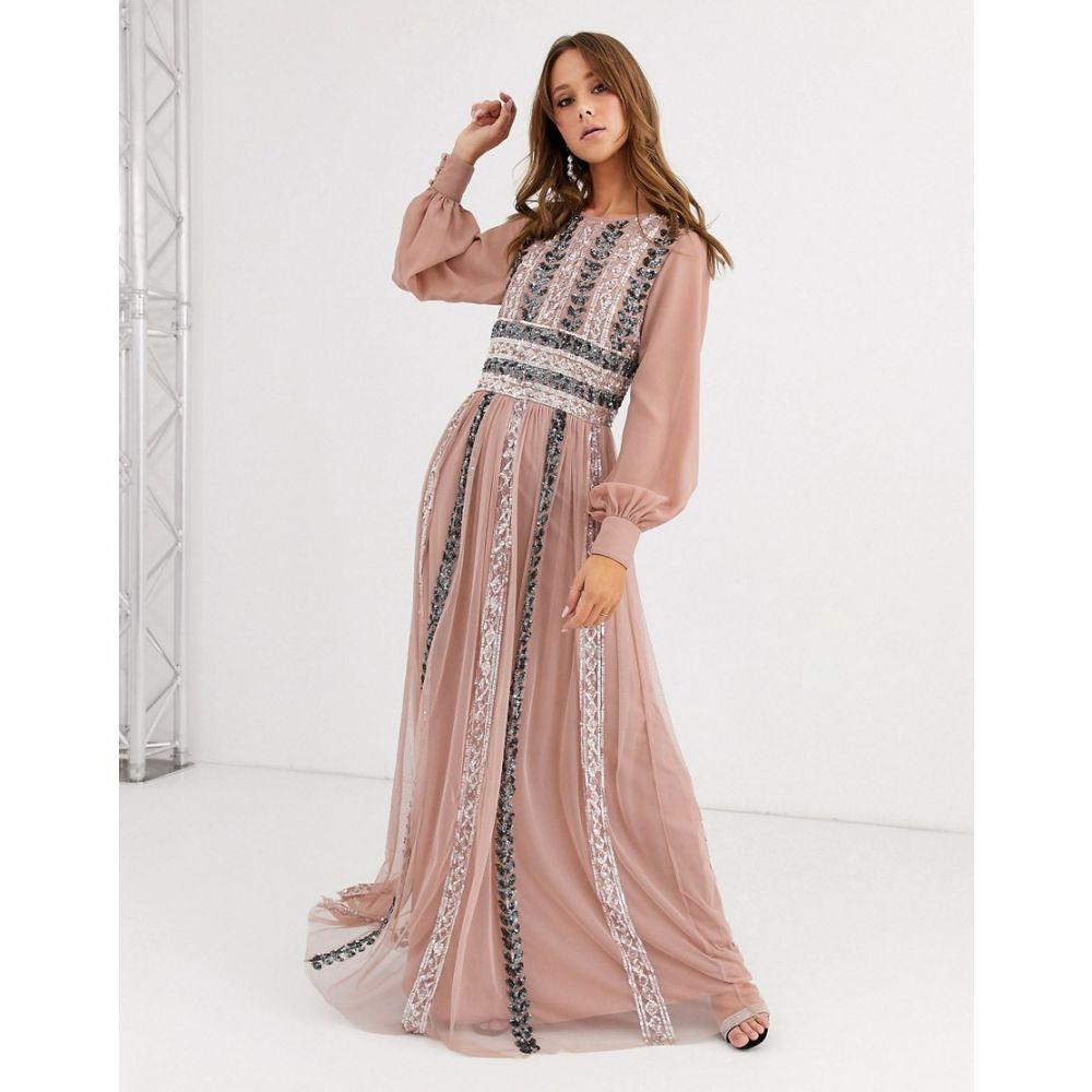 マヤ Maya レディース ワンピース マキシ丈 ワンピース・ドレス【embellished maxi dress in blush】Blush