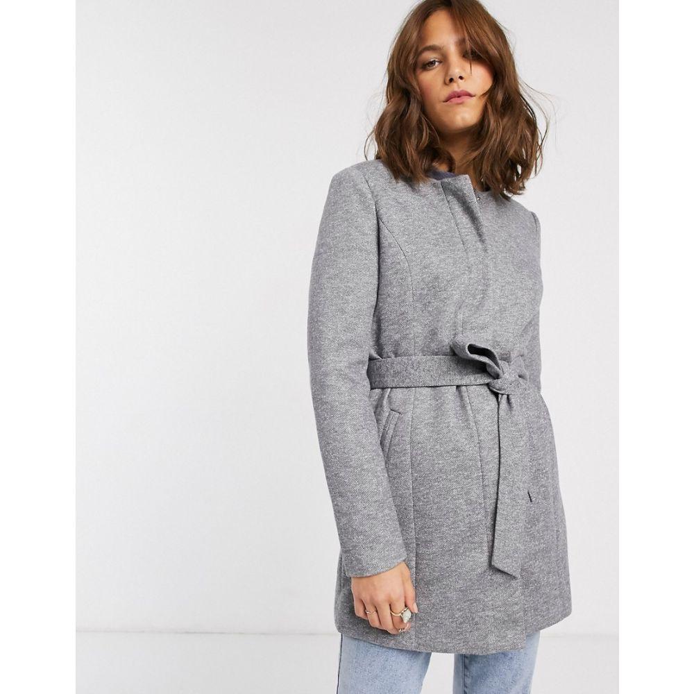 ヴェロモーダ Vero Moda レディース コート アウター【belted coat】Light grey melange