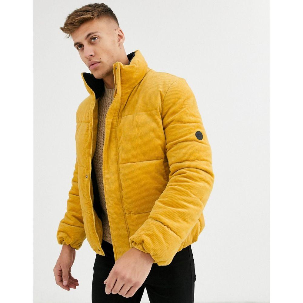 ネイティブユース Native Youth メンズ ダウン・中綿ジャケット アウター【cord puffer jacket】Yellow
