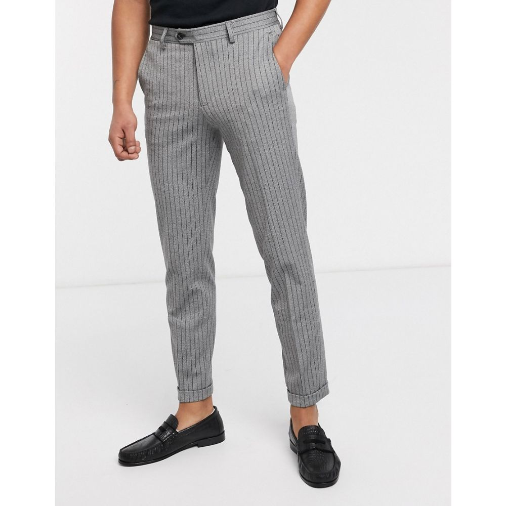 ジャック アンド ジョーンズ Jack & Jones メンズ ボトムス・パンツ 【Premium smart pin stripe trousers in grey】Light grey melange