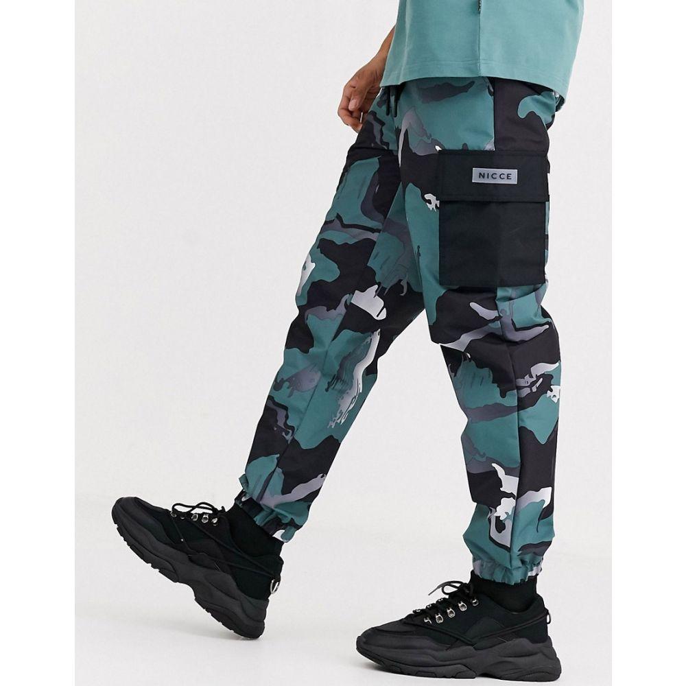 ニッチェ ロンドン Nicce メンズ カーゴパンツ ボトムス・パンツ【cargo trousers in camo】Green