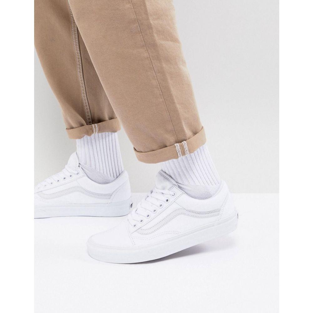 ヴァンズ Vans レディース スニーカー シューズ・靴【classic Old Skool triple white trainers】White