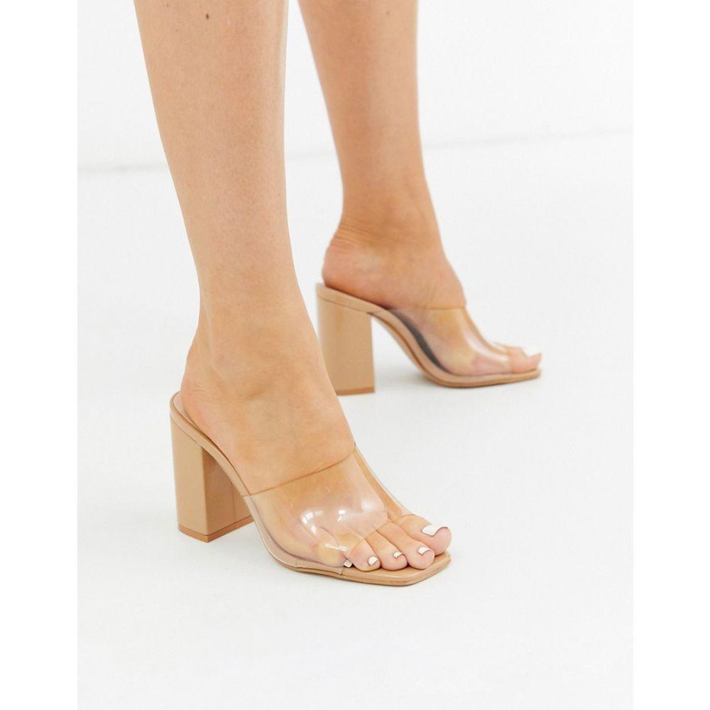 シミ SIMMI Shoes レディース サンダル・ミュール シューズ・靴【Simmi London asymmetric clear detail mules】Blush patent