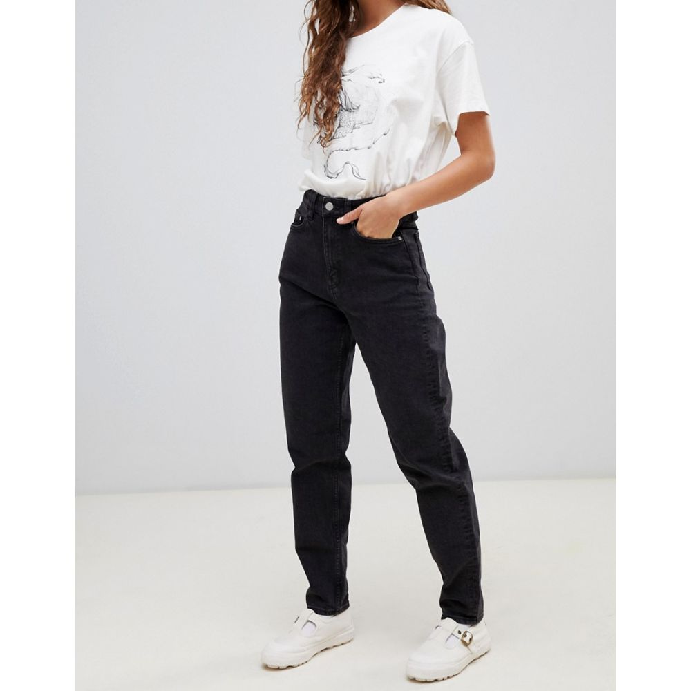 ウィークデイ Weekday レディース ジーンズ・デニム ボトムス・パンツ【Rigid high waist mom jean with organic cotton in black】Black
