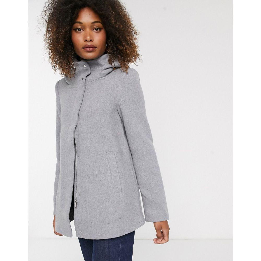 ヴェロモーダ Vero Moda レディース コート フード アウター【hooded wool coat】Grey