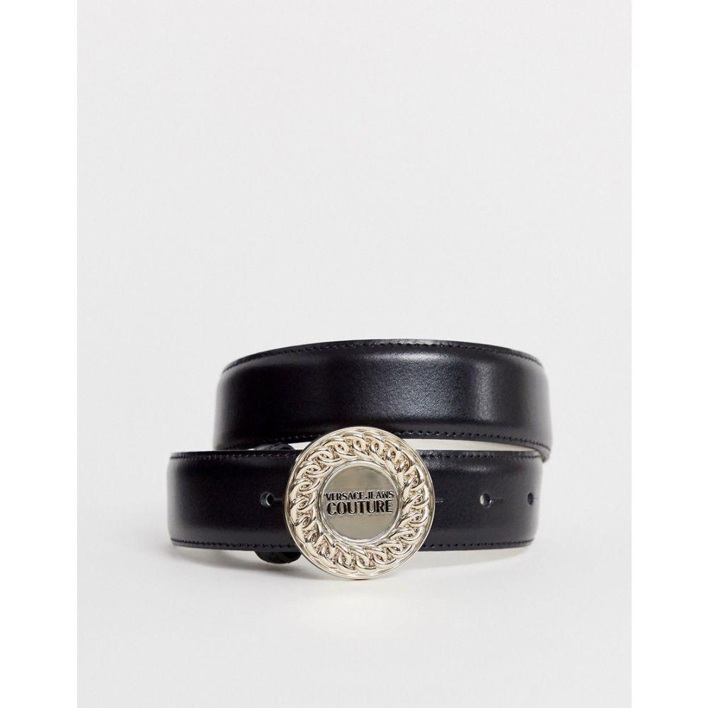 ヴェルサーチ Versace Jeans レディース ベルト 【Couture chain logo belt】Black