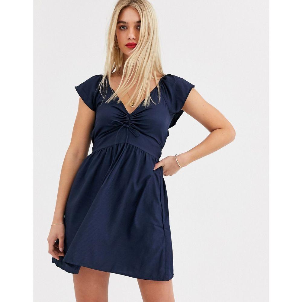 ヴェロモーダ Vero Moda レディース ワンピース ワンピース・ドレス【gathered front dress】Navy blazer