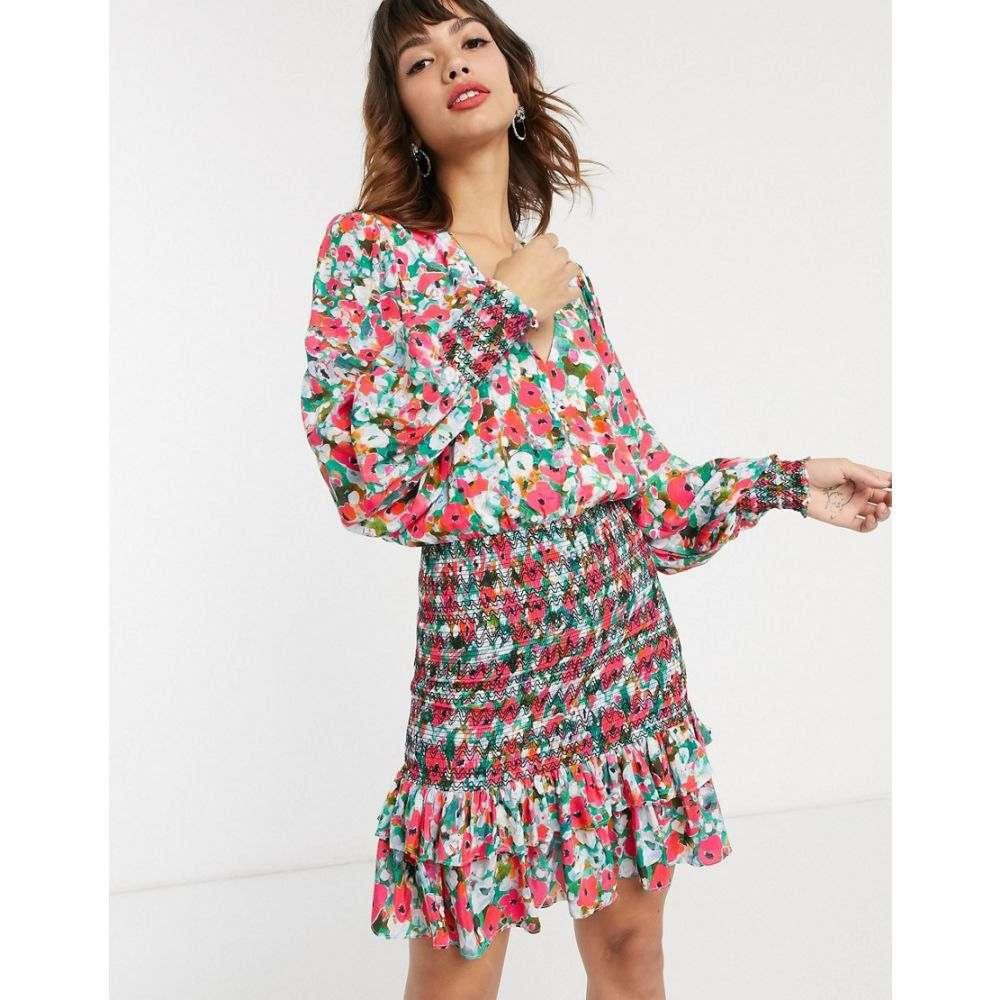 ヴェスティーレ Vestire レディース ワンピース ワンピース・ドレス【little havana long sleeve floral shirred mini dress】Floral print