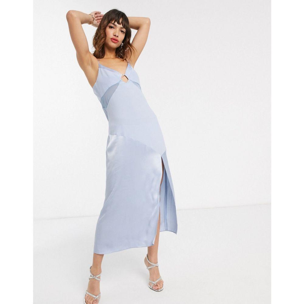 ヴェスティーレ Vestire レディース ビーチウェア スリップドレス ワンピース・ドレス 水着・ビーチウェア【palm beach midi slip dress】Light blue