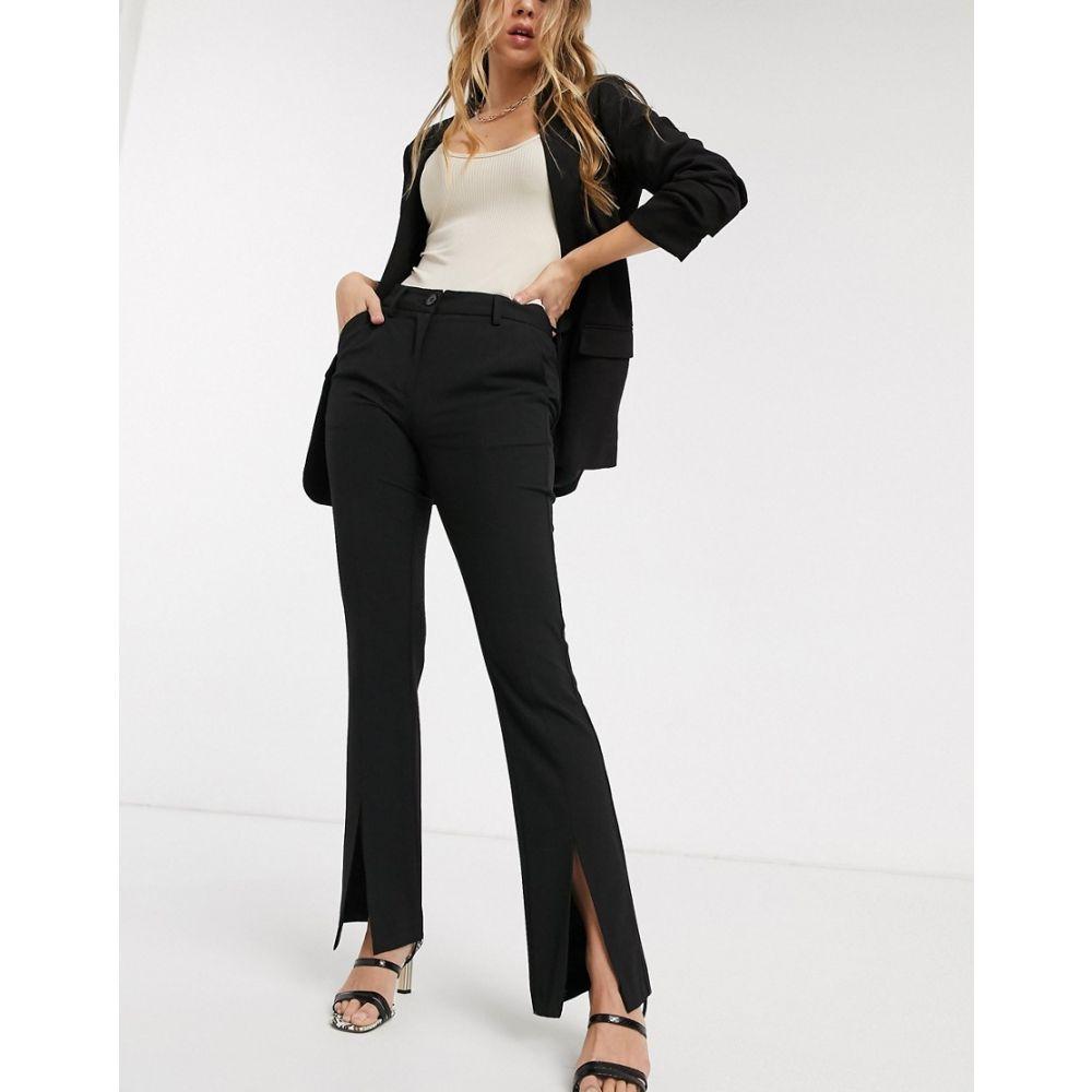 ワイ エー エス Y.A.S レディース ボトムス・パンツ 【trousers with slit front in black】Black