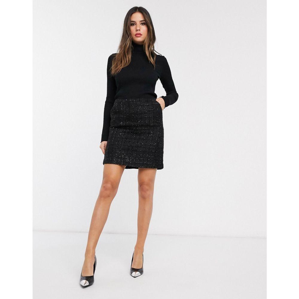ウェアハウス Warehouse レディース ミニスカート スカート【metallic thread boucle skirt in black】Black