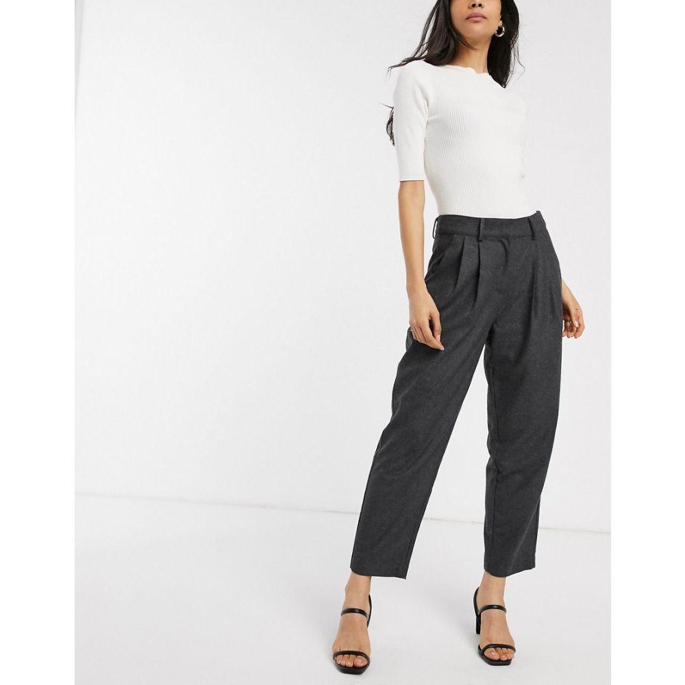 ワイ エー エス Y.A.S レディース ボトムス・パンツ 【tailored trousers】Dark grey