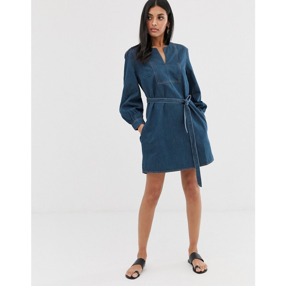 フレンチコネクション French Connection レディース ワンピース デニム ミニ丈 ワンピース・ドレス【denim mini dress】Rinse blue