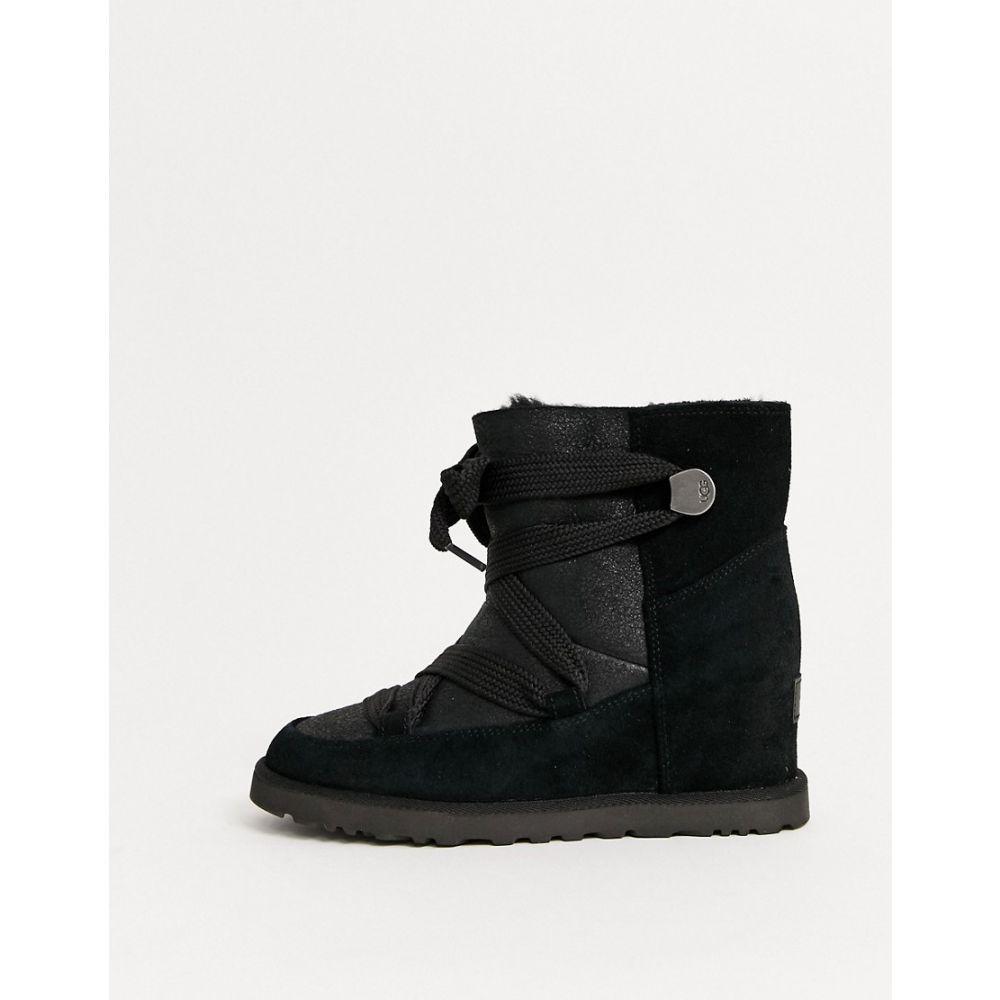 アグ UGG レディース ブーツ ショートブーツ レースアップブーツ シューズ・靴【Classic Lace up ankle boots in black】Black