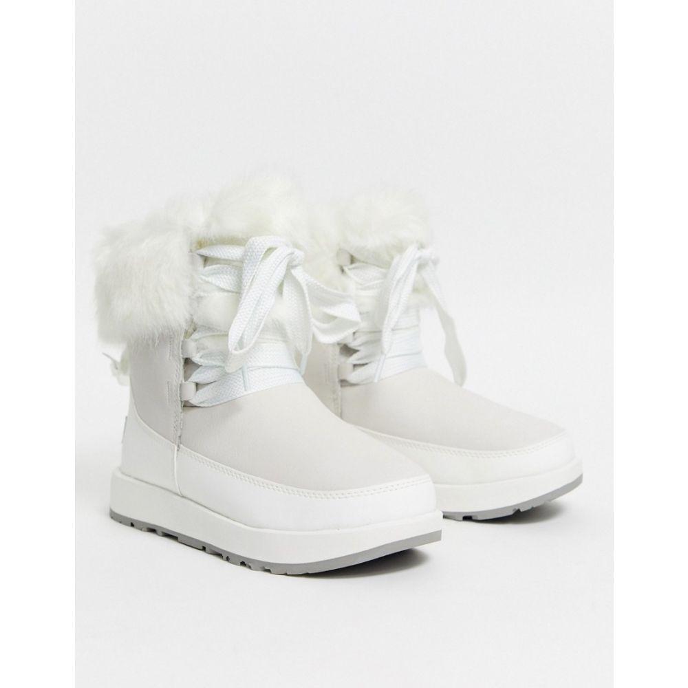 アグ UGG レディース ブーツ ショートブーツ シューズ・靴【Gracie waterproof fluffy ankle boots in white】White