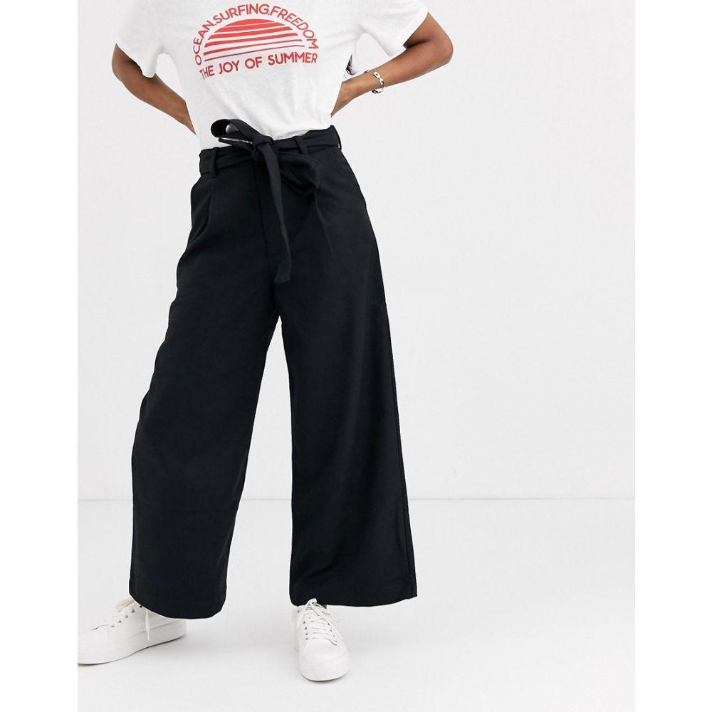 ムーンリバー Moon River レディース ボトムス・パンツ ワイドパンツ【tie waist wide leg trousers】Black