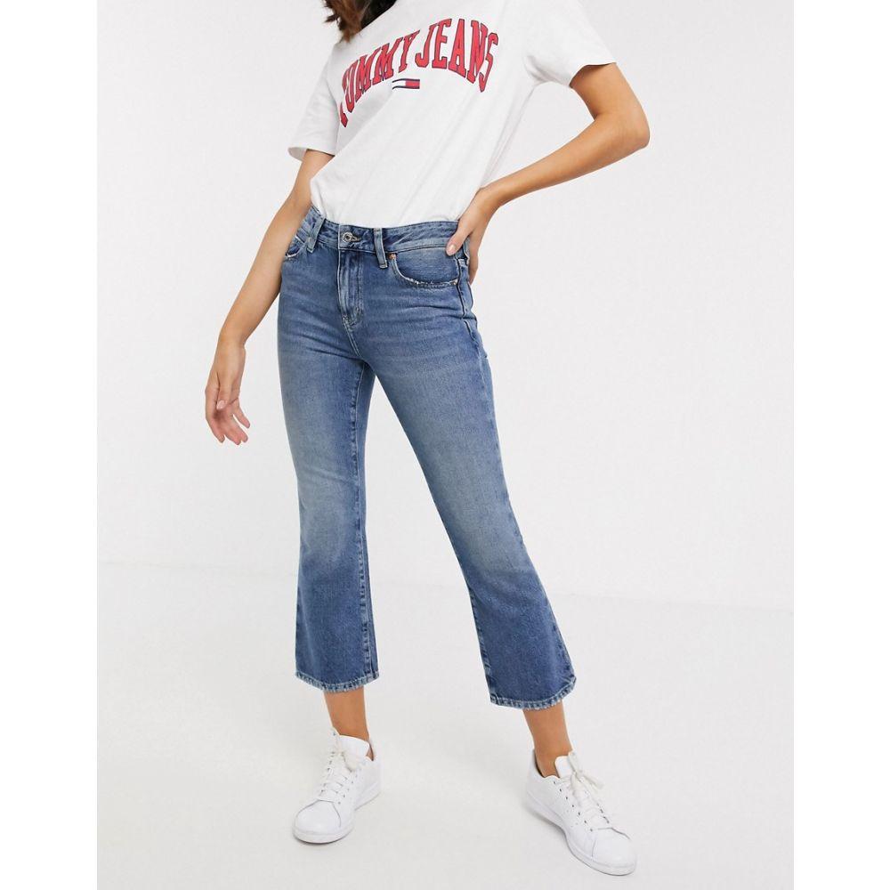 トミー ジーンズ Tommy Jeans レディース ジーンズ・デニム ボトムス・パンツ【crop flare jean】Sunday mid bl rig