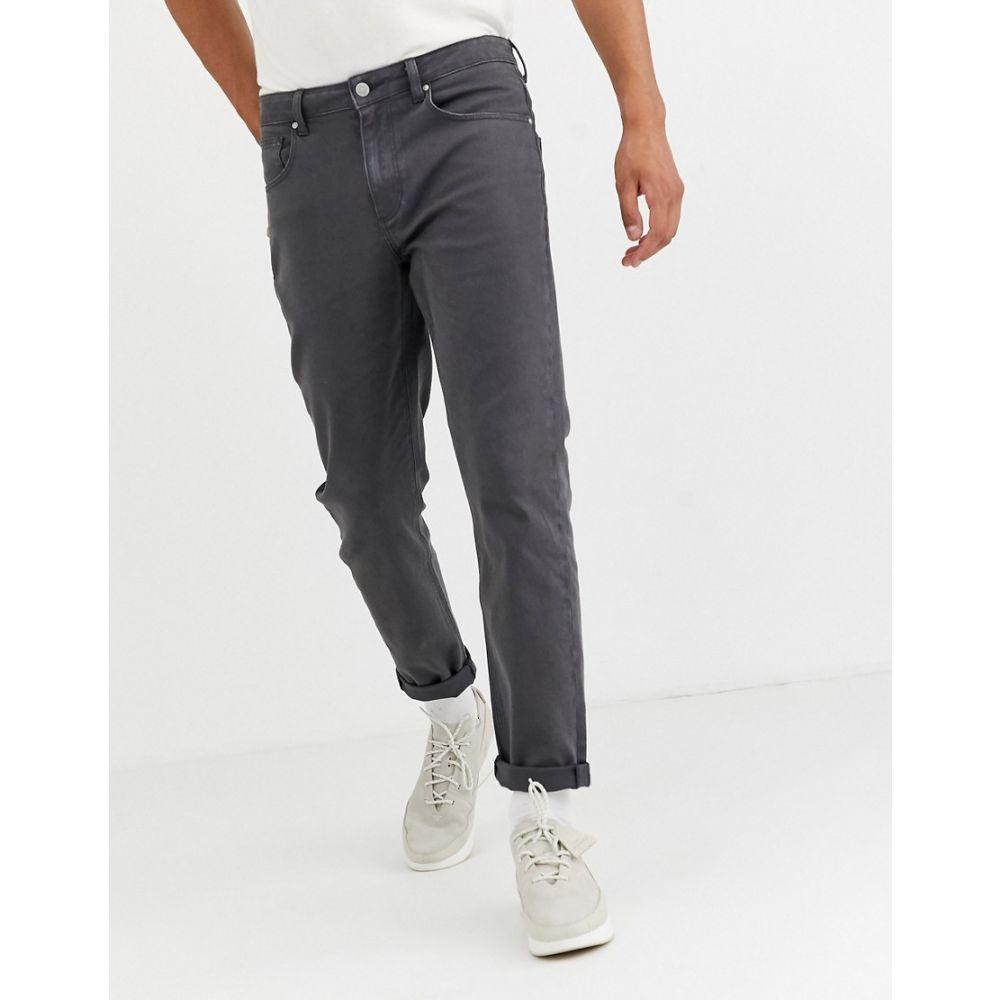 エイソス ASOS DESIGN メンズ ジーンズ・デニム ボトムス・パンツ【rigid tapered jeans in flat dark grey with contrast stitch】Grey