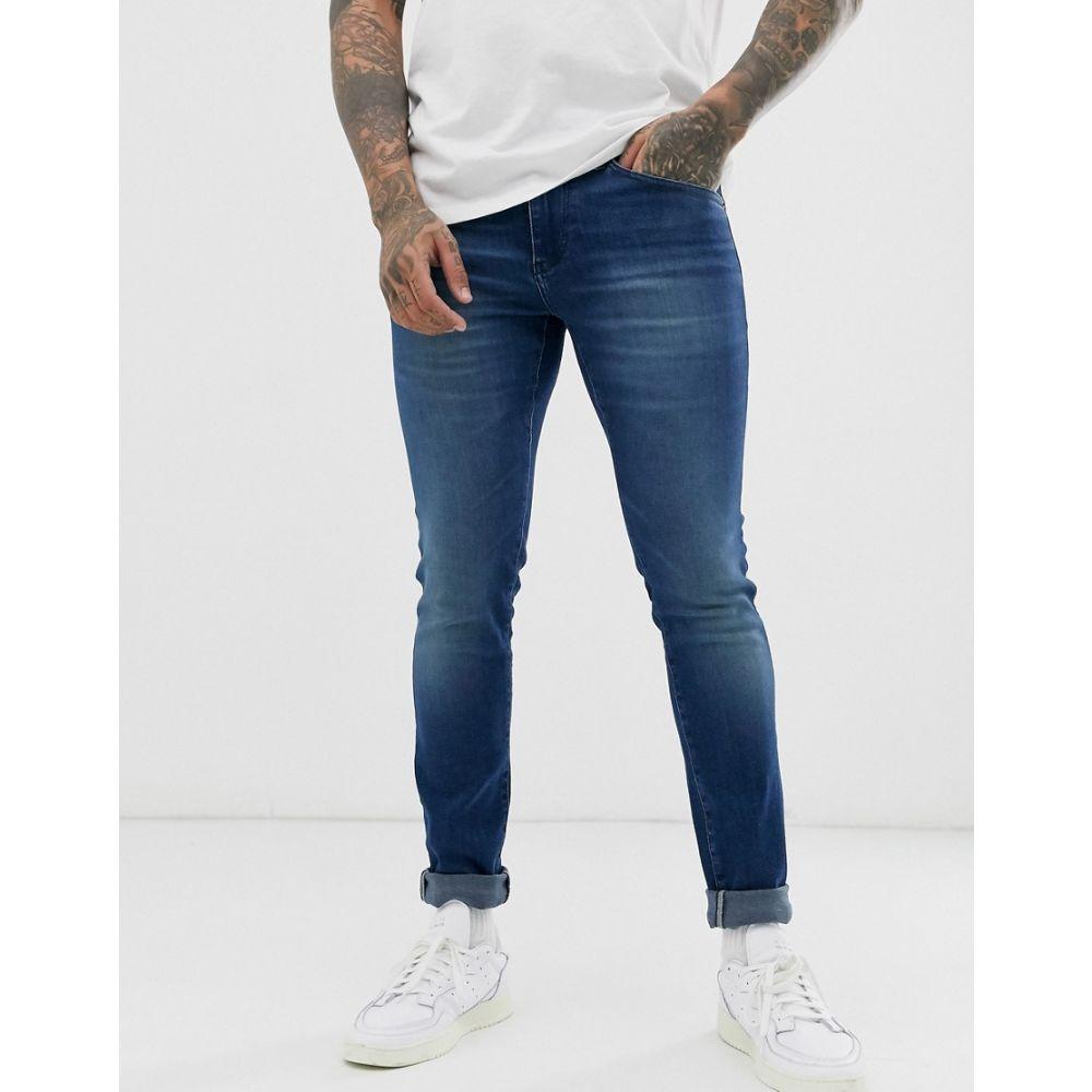 ヒューゴ ボス BOSS メンズ ジーンズ・デニム ボトムス・パンツ【Charleston skinny fit jeans in mid wash】Blue