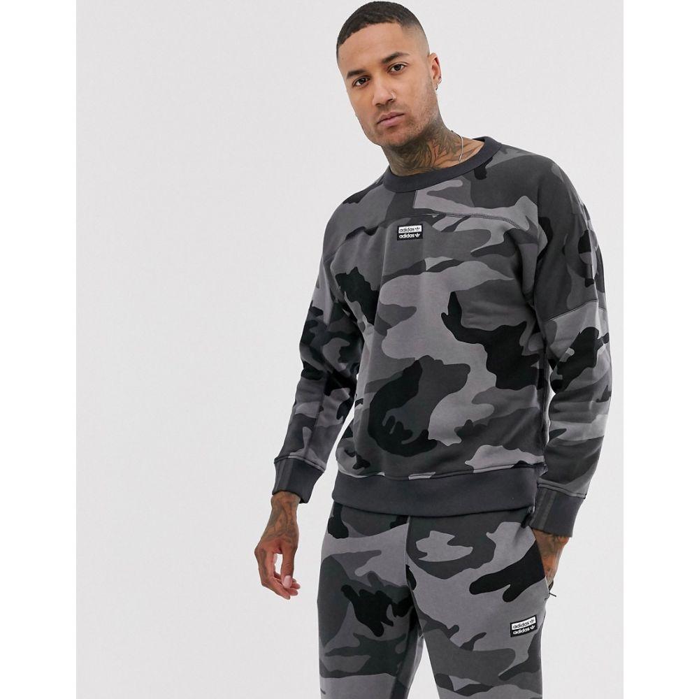 アディダス adidas Originals メンズ スウェット・トレーナー トップス【vocal sweatshirt with back print in camo】Grey