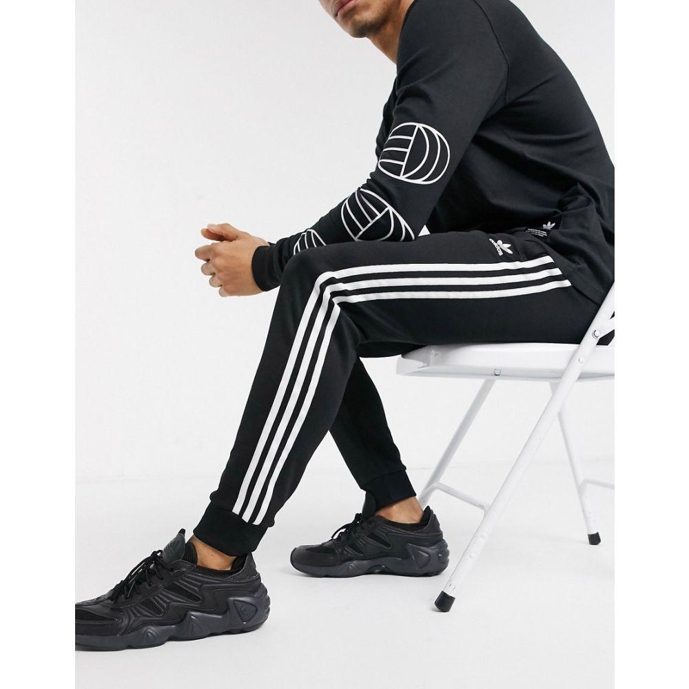 アディダス adidas Originals メンズ ジョガーパンツ ボトムス・パンツ【superstar 3 stripe joggers in black】Black