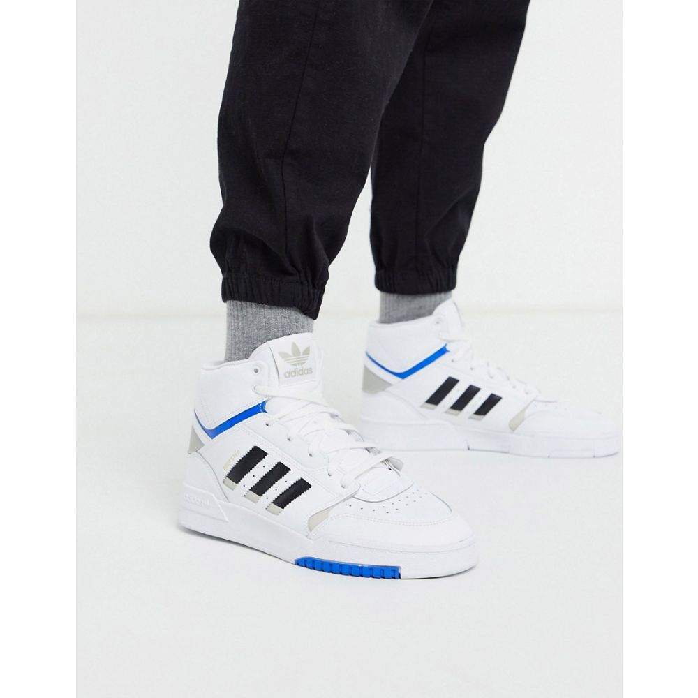アディダス adidas Originals メンズ スニーカー シューズ・靴【drop step hi top trainers in white】White