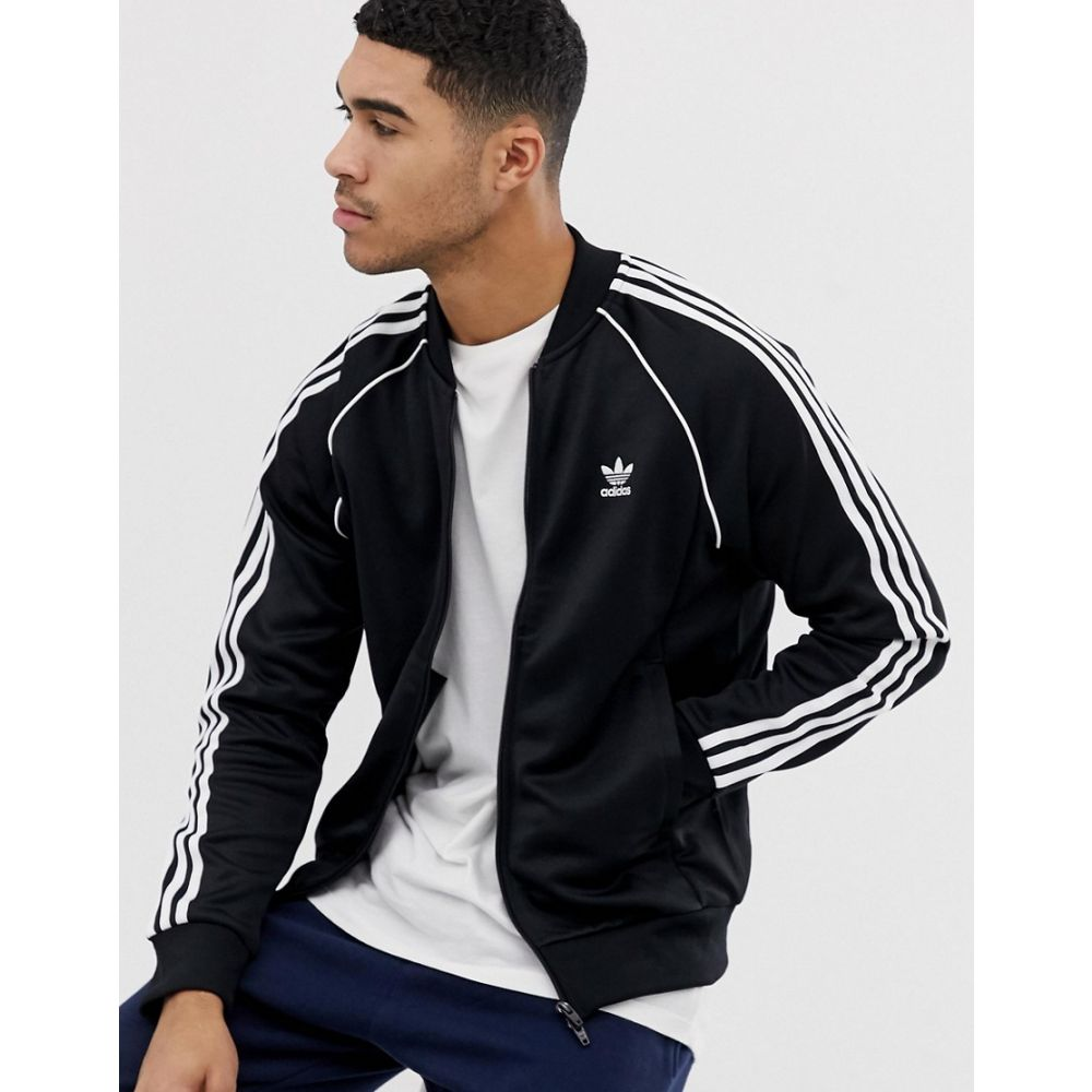 アディダス adidas Originals メンズ ジャージ アウター【Superstar track jacket in black】Black
