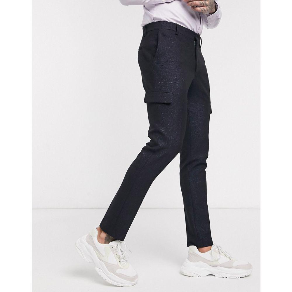 エイソス ASOS EDITION メンズ カーゴパンツ ボトムス・パンツ【super skinny cargo trousers in blue】Blue