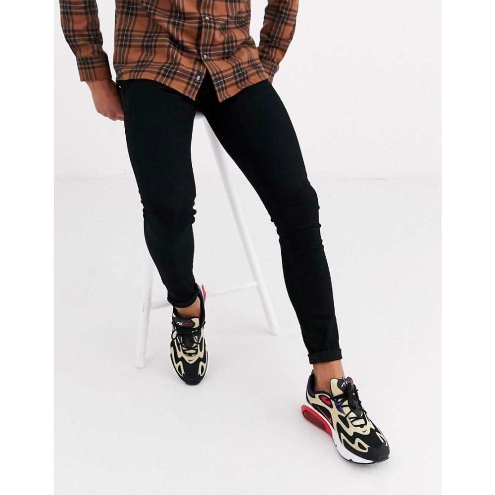 ジャック アンド ジョーンズ Jack & Jones メンズ ジーンズ・デニム ボトムス・パンツ【spray on skinny fit jeans in black】Black