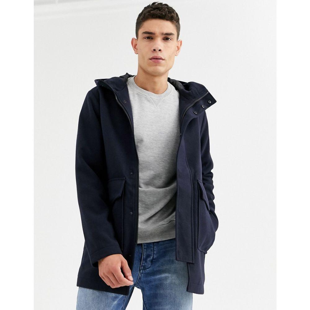ジャック アンド ジョーンズ Jack & Jones メンズ コート フード アウター【Originals padded coat with hood in navy】Navy