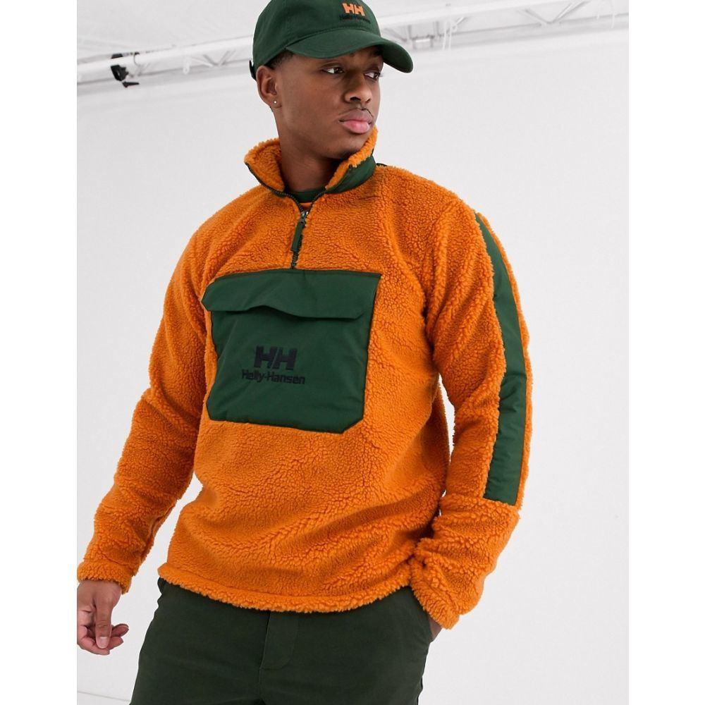 ヘリーハンセン Helly Hansen メンズ フリース ハーフジップ トップス【Yu 1/2 zip borg fleece in orange/khaki】Orange