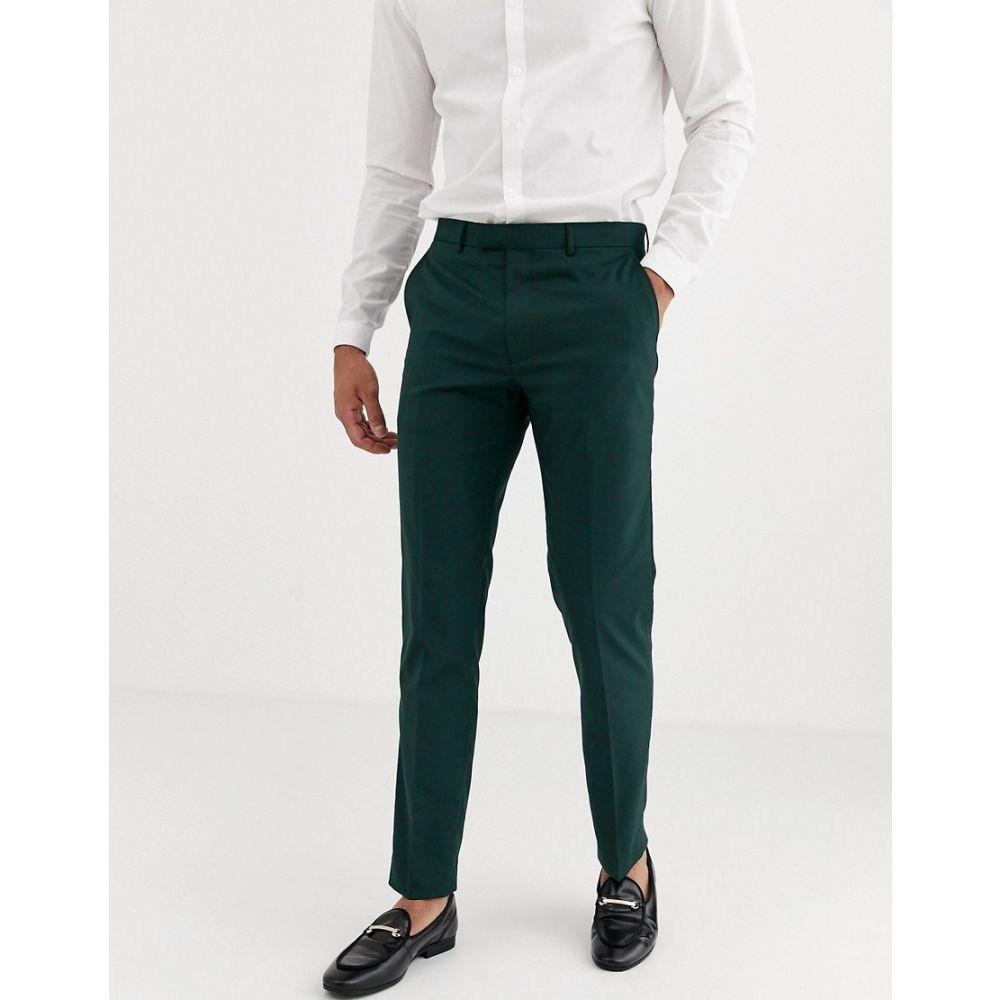 ハリー ブラウン Harry Brown メンズ スラックス ボトムス・パンツ【skinny fit stretch plain suit trousers】Green