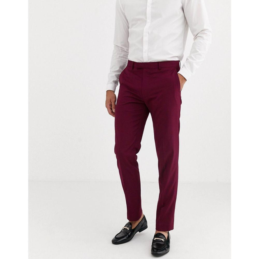 ハリー ブラウン Harry Brown メンズ スラックス ボトムス・パンツ【skinny fit stretch plain suit trousers】Plum