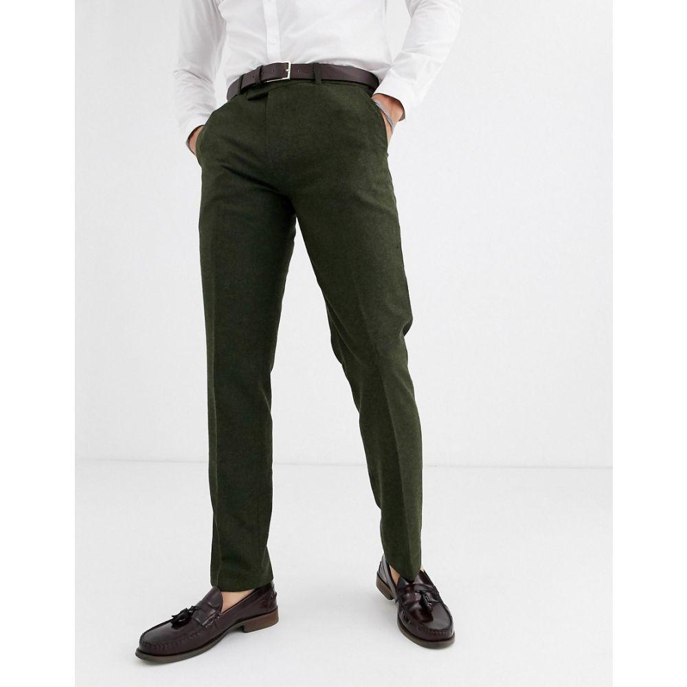 ハリー ブラウン Harry Brown メンズ スラックス ボトムス・パンツ【wedding tweed heritage slim fit suit trousers】Green