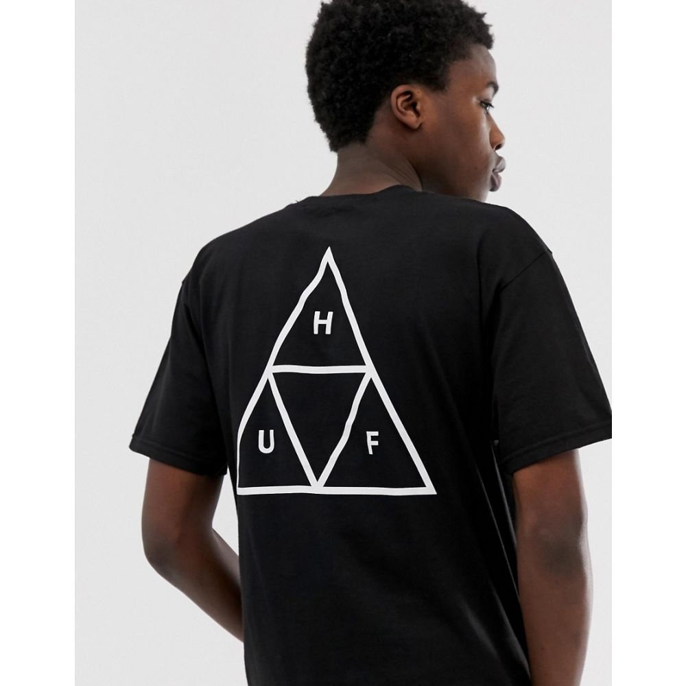 ハフ HUF メンズ Tシャツ トップス【Triple Triangle t-shirt in black】Black