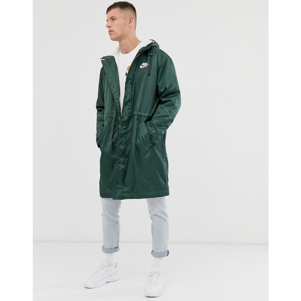 ナイキ Nike メンズ コート アウター【fleece lined parka in khaki】Green