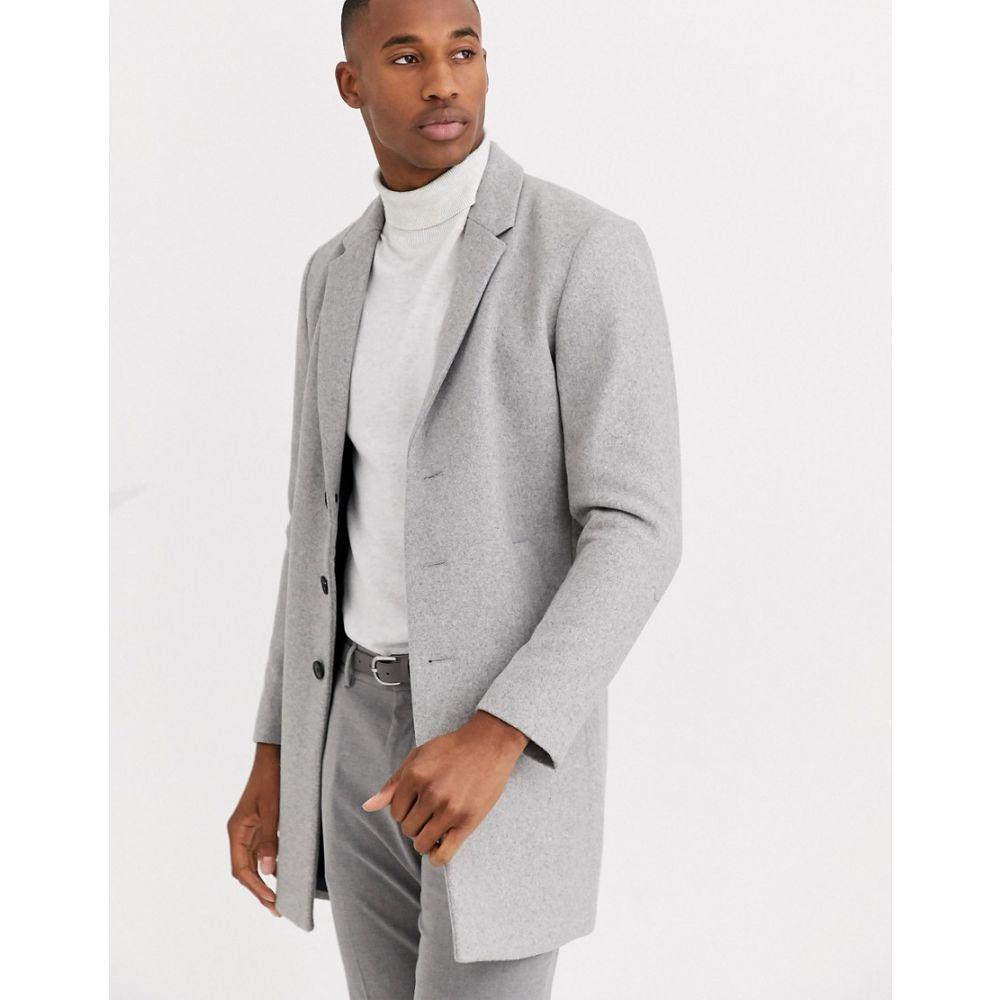 ジャック アンド ジョーンズ Jack & Jones メンズ コート アウター【Premium wool overcoat in light grey】Light grey melange