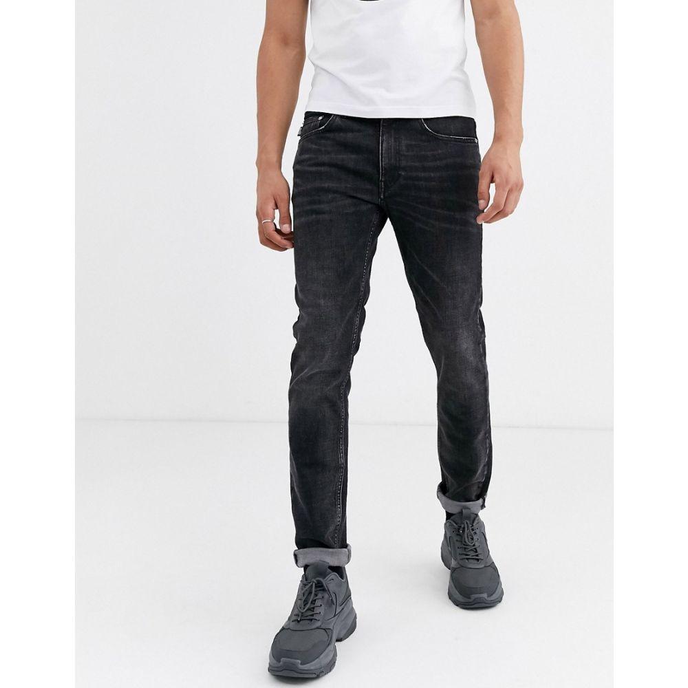 モスキーノ Love Moschino メンズ ジーンズ・デニム ボトムス・パンツ【slim jeans with back pocket patch】Blue