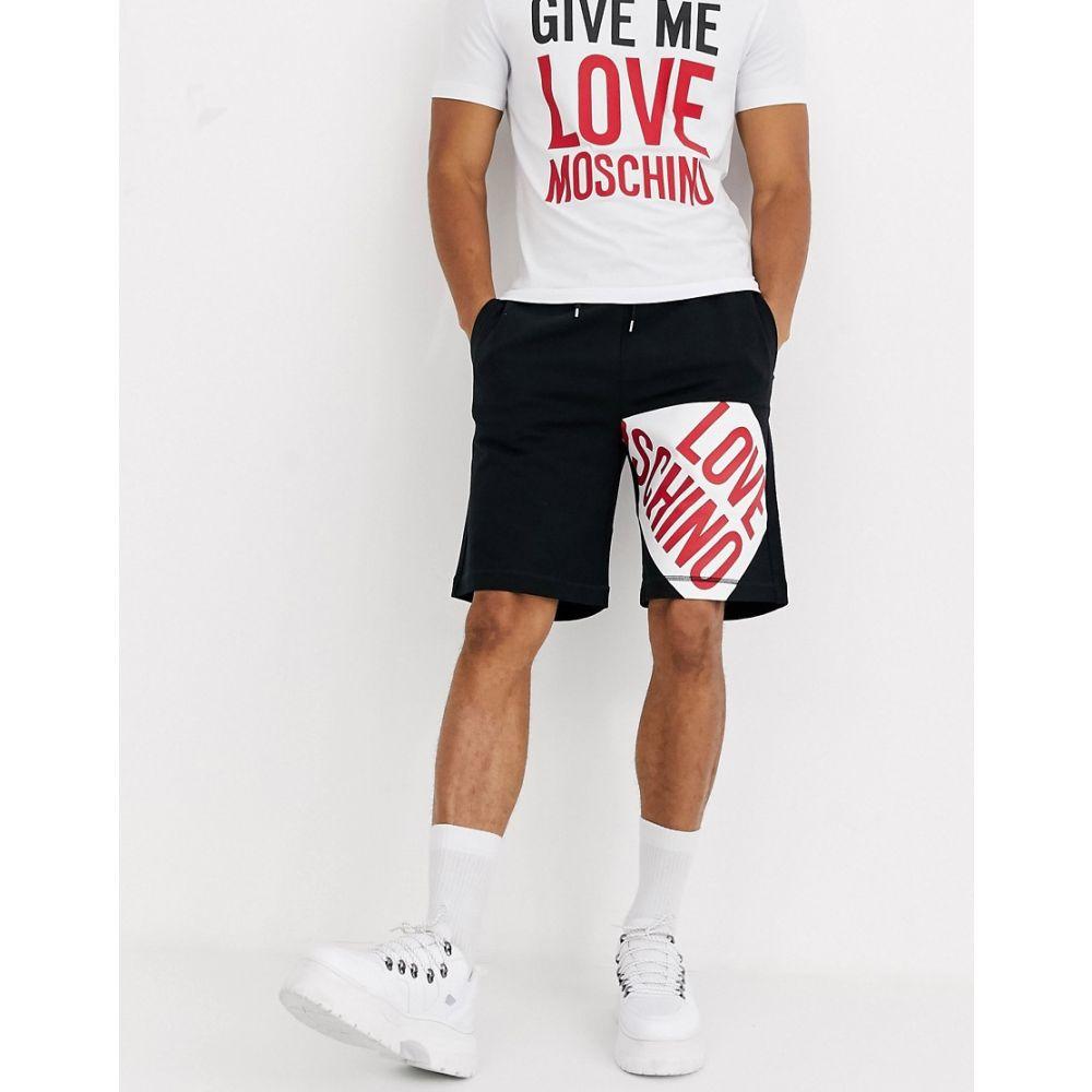 モスキーノ Love Moschino メンズ ショートパンツ ボトムス・パンツ【logo jersey shorts】Black