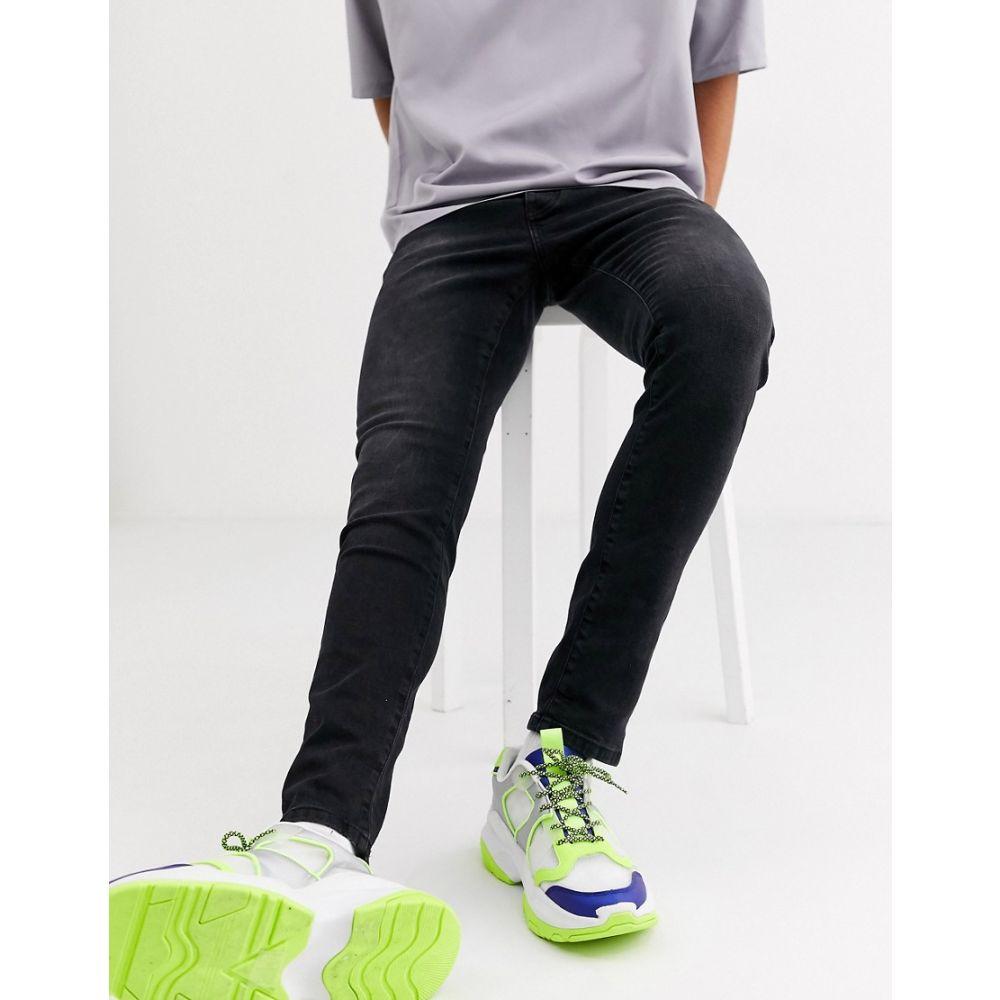 メンナス Mennace メンズ ジーンズ・デニム ボトムス・パンツ【skinny jeans in black wash】Black