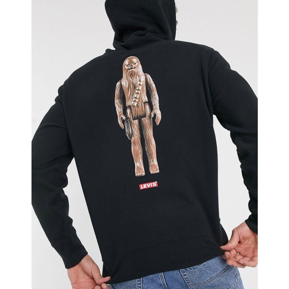 リーバイス Levi's メンズ パーカー トップス【x Star Wars Chewbacca sleeve and back print hoodie in black】Black