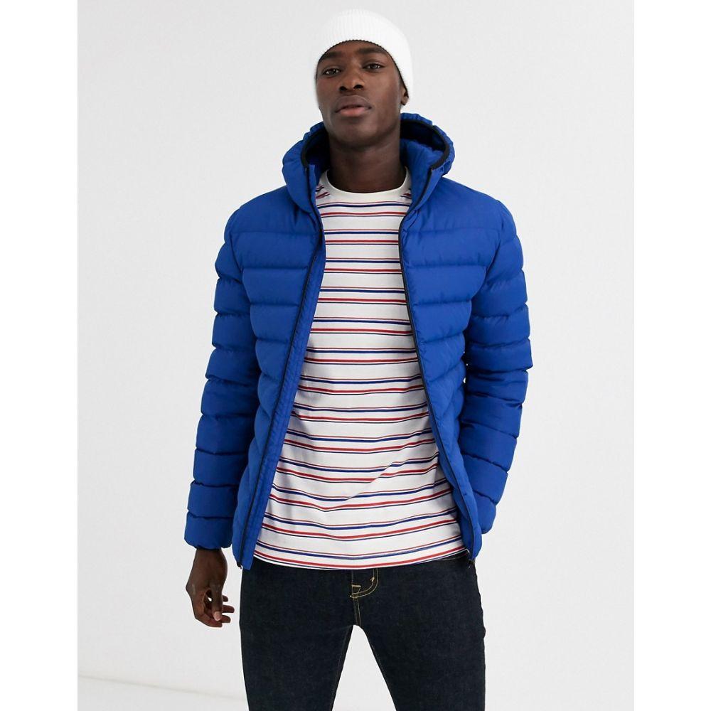 フレンチコネクション French Connection メンズ ダウン・中綿ジャケット フード アウター【padded hooded zip through jacket】Blue