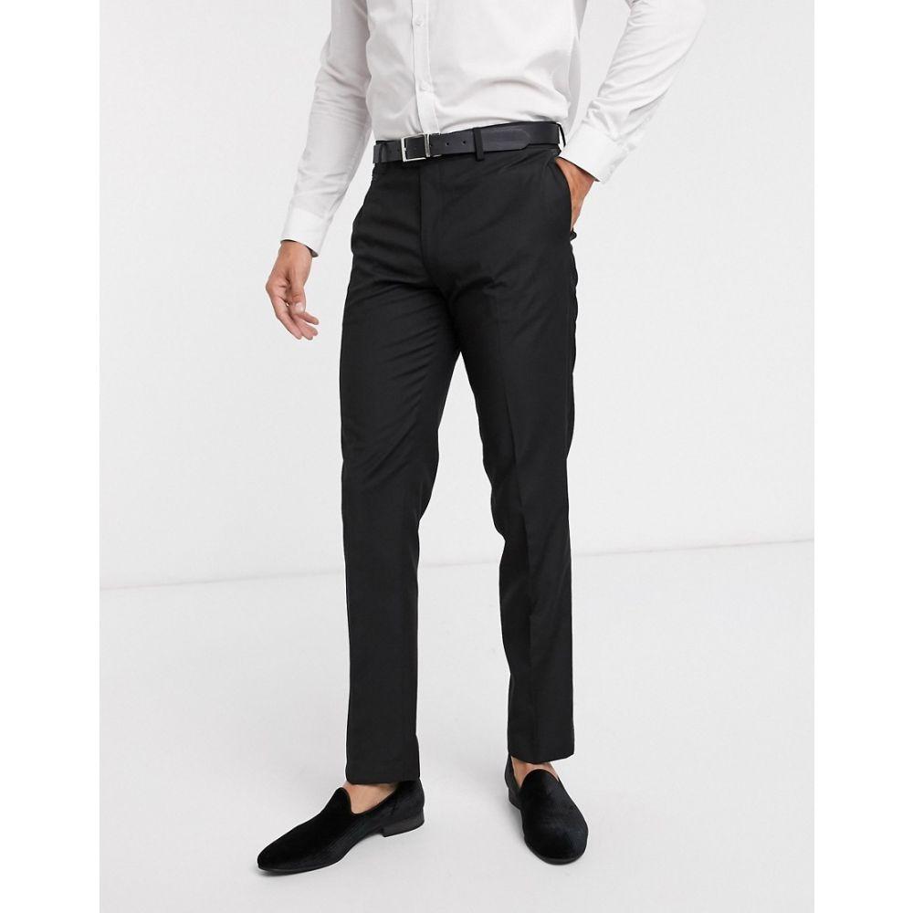 エイソス ASOS DESIGN メンズ スラックス タキシード ボトムス・パンツ【slim tuxedo suit trousers in black】Black