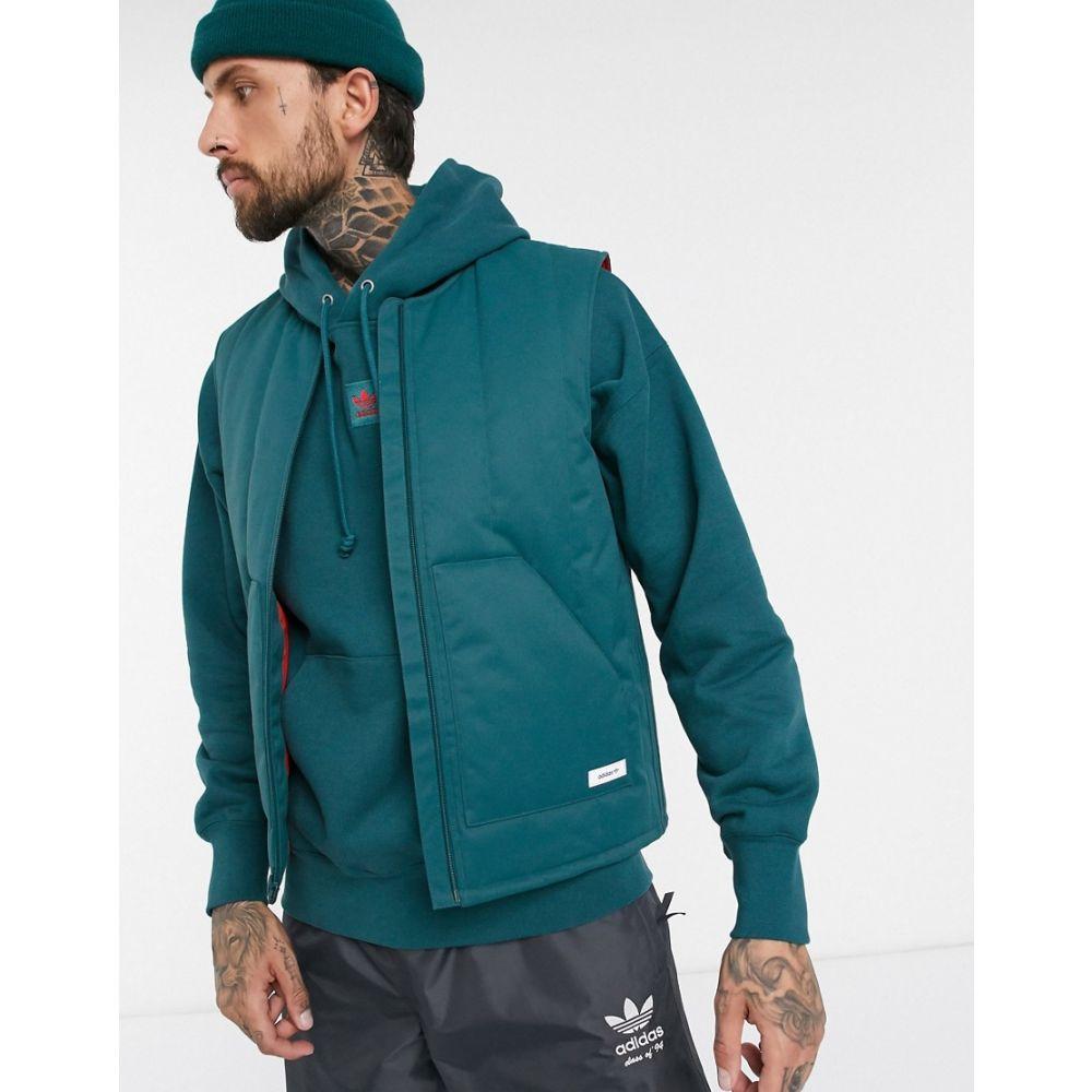 アディダス adidas Snowboarding メンズ タンクトップ トップス【Adidas Snowboarding Workwear vest in blue】Blue