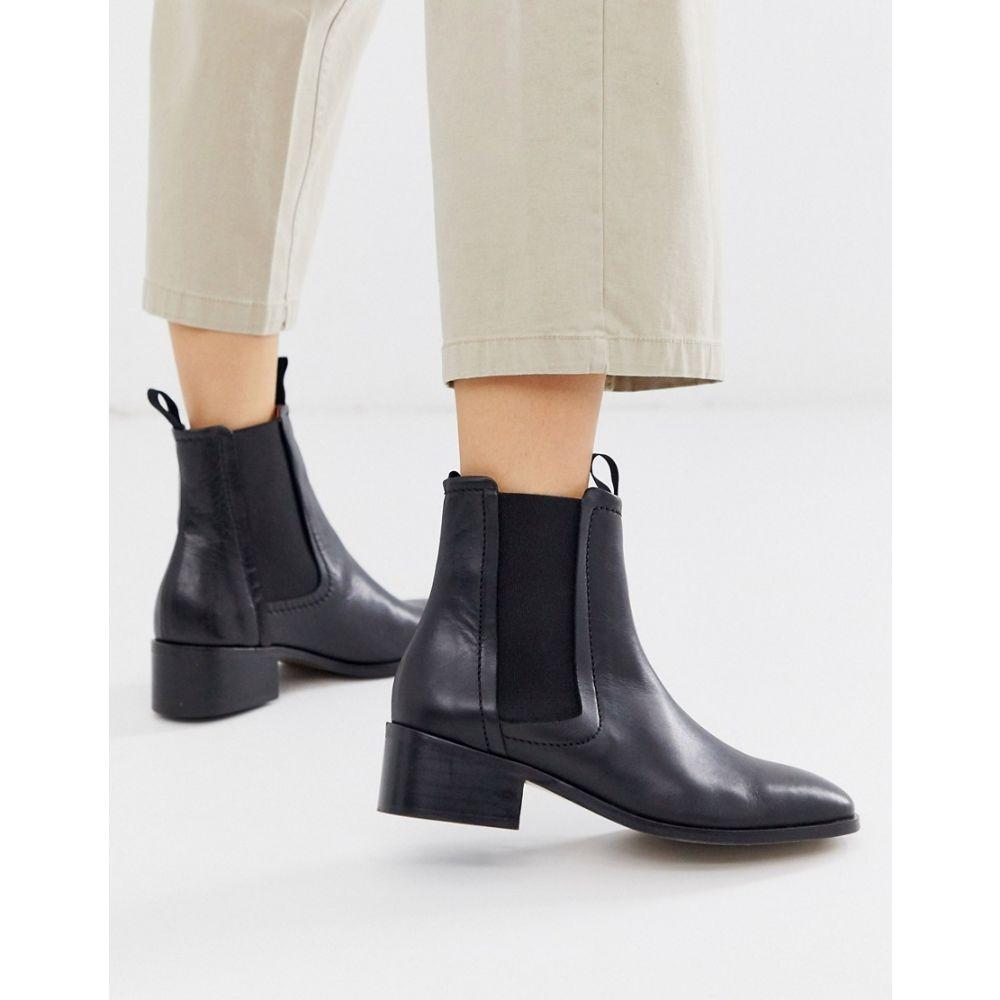 ホイッスルズ Whistles レディース ブーツ チェルシーブーツ シューズ・靴【fernbrook leather chelsea boot】Black